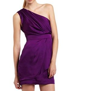 BCBG Generation purple one shoulder cocktail dress